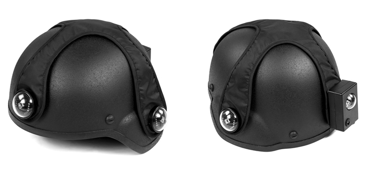 black laser tag helmet with tactical cover
