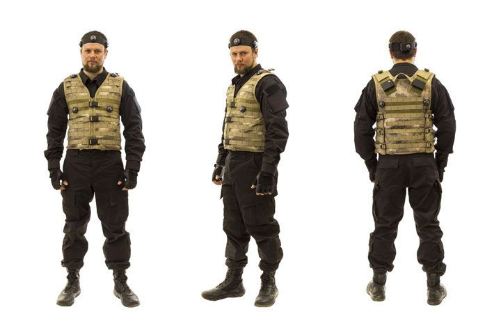 laserwar tactical vest on player